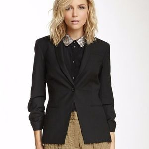 Elizabeth & James Ruched Sleeve Blazer